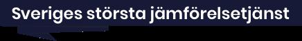 Sveriges största jämförelsetjänst