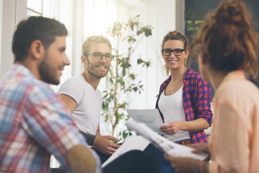 En grupp planerar sitt företag